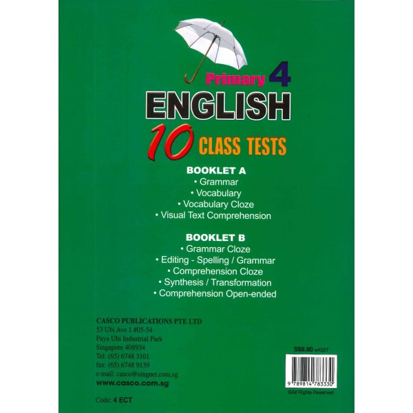 P4 English 10 Class Tests