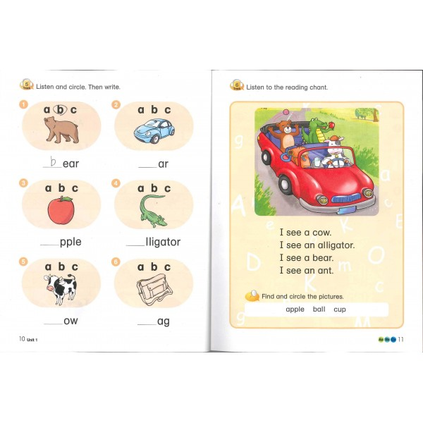 Phonics Cue 1  (Paperback+CD)-Student Book+Workbook+Activity Book+Hybrid CDs