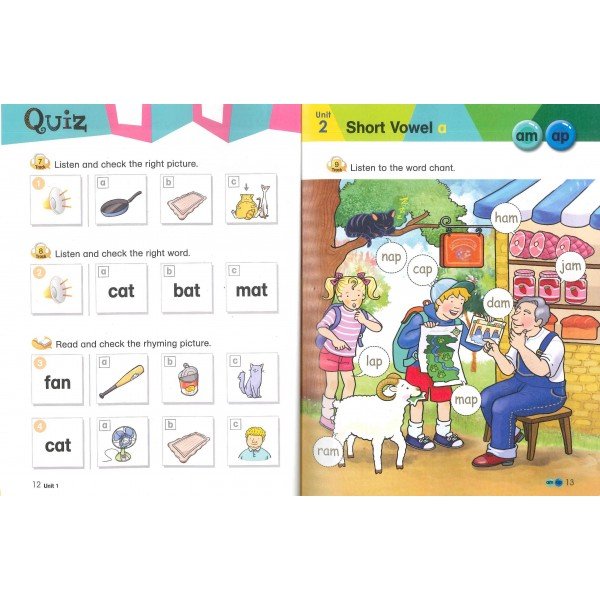 Phonics Cue 2 (Paperback+CD)-Student Book+Workbook+Activity Book+Hybrid CDs